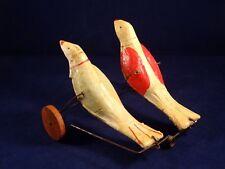 Ancien rare jouet à pousser 2 oiseaux papier mâché années 1880-1900 Bon Dufour ?