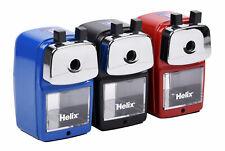 Helix Desktop Rotary Pencil Sharpener Metal Heavy Duty Body & Desk Clamp