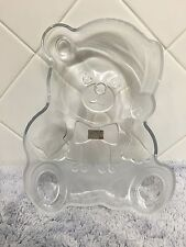Mikasa Art Deco Crystal Frosted Teddy Bear Glass Plate