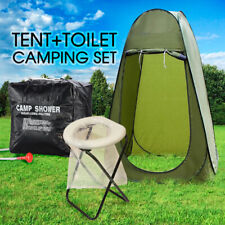 New Portable Pop Up Outdoor Camping Tent Toilet Shower Room w/ Zipped Window
