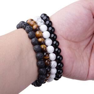 Natural 8mm Gorgeous Semi-Precious Gemstones Tiger Eye Healing Beaded Bracelets