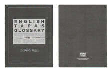 SLEAFORD MODS English Tapas Ltd Ed RARE Glossary +FREE Indie Alt Punk Stickers!