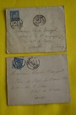 2 enveloppes de 1899 adressées à Charles Bourgeat artiste répertorié