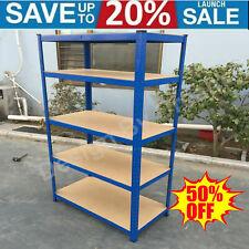 More details for 5 tier metal shelving units storage racking shelves garage warehouse shed -black
