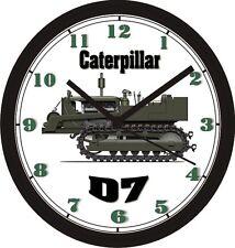 CATERPILLAR D7 WORLD WAR II EQUIPMENT WALL CLOCK