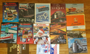 LIONEL TRAIN CATALOGS FROM THE 1990'S - LOT OF 13 DIFFERENT  1992 1994 1997 1995