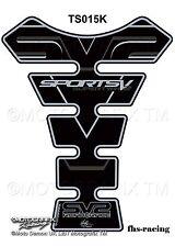 Ts015k, MOTOGRAFIX-Protezione per il serbatoio, serbatoio Protektor, SUZUKI, Racing, sv2, Nero