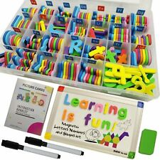 MAKEKFORKIDS 291PCS MAGNETIC LETTERS NUMBERS AND SHAPES