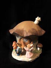Spring Musical Easter Village - Mushroom Bunny House