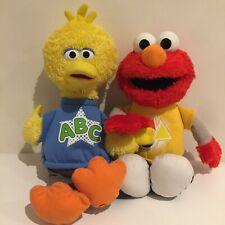 Sesame Street Hasbro Plush Toy Lot Elmo Big Bird Learning Talking 36cm Tall