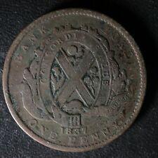LC-9C One Penny token Deux sous 1837 Bas Canada Banque du Peuple Breton 521