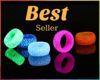 Fashion Colorful Luminous Silicone Ring Women Men Fluorescent Glowing Halloween