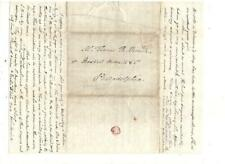 1845 STAMPLESS FOLDED LETTER, HALL & CO. COURIER EXPRESS, REF: GENEALOGICAL COM