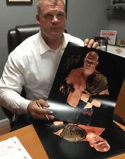 Autographed Kane 16 x 20 Photo Print,  Belt WWE WWF Demon Corporate