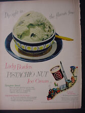 1952 Borden's Pistachio nut Ice Cream Dairy Toy Train Vintage Print Ad 12182