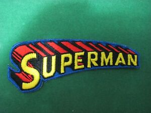 Patch - Patch Embroidered - Superman Written - CM 4 x 10 Iron On