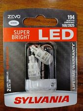 Sylvania Zevo Led lights 194 6000k Pair Set Lamps Bulbs compatible 168/2825 New