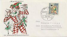 BERLIN 1970, Wohlfahrt: Marionetten 50 + 25 Pf Pulcinella Kab.-FDC selt. EF