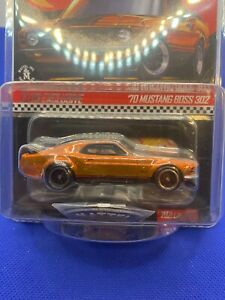 Hot Wheels 2021 Club Exclusive 1970 Ford Mustang Boss 302  with button and patch