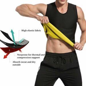 Mens Lady Gym Neoprene Vest Sauna Ultra Sweat T-Shirt Body Shaper Slimming Sport