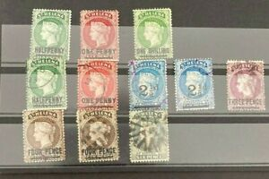 Stamps St Helena QV Early Selection of 11 Stamps Values to 1/-