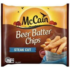McCain Frozen Steak Cut Beer Batter Chips 750g