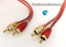 MicroFlex OFC Premium 6' ft Dual RCA Stereo Audio Cable Wire (M-M) Gold Plated