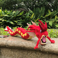 "Red Shiny Gyarados 23"" Plush Dragon Garados Stuffed Toy Cartoon Soft Doll"