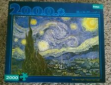 Buffalo Games 2000 piece puzzle - The Starry Night by Vincent van Gogh