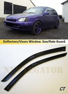 For Toyota Starlet 3d 1996-1999 Side Window Visors Rain Guard Vent Deflectors
