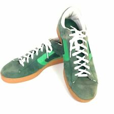 CIRCA Mens Shoe Green Suede Lace Up Leather Low Top Skater Sneaker EU 46 US 12