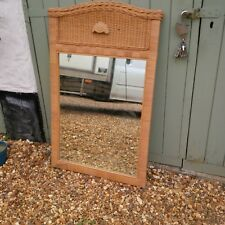 Vintage Retro Style  Large Caine/Wicker??Mirror 27w x 44h in inches.