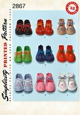 Simplicity Sewing Pattern 2867  Vintage 1940s baby booties