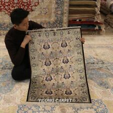 Yilong 2.25'x3.25' Classic Silk Area Rugs Vintage Hand knotted Home Carpet L003B