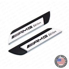 Universal Fender Marker Car AMG Edition Black Logo Badge Emblem Sport Decoration