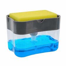 2-in-1 Sponge Rack And Soap Pump Dispenser Sponge Caddy For Dish with Sponge