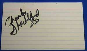 CHARLES SHACKLEFORD deceased 2017 signed autograph 3 x 5  NJ Nets 76ers 1988-93