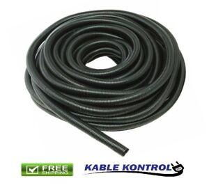 Black Kable Kontrol Flexible Polyethylene Split Wire Loom Tubing Lot
