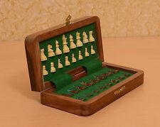 Magnet Holz Reise Schachkassette/ Set/ Spiel handgefertigt – Faltbar chessbazaar