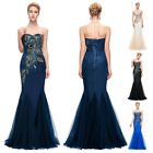 Women Long Mermaid Evening Formal Party Dress Cocktail Bridesmaid Ball Prom Gown