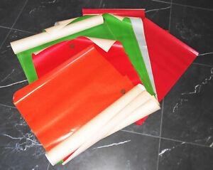 11 Feuille Joli Ancien Papier pour Loisirs Créatifs Vert Rouge Orange Relieurs