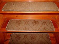 "13 Step  9"" x 30"" + Landing  30"" x 31""  Stair Treads Woven Wool Carpet  ."