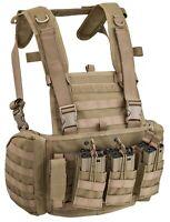Defcon 5 Combat Tactical Vest Carrier Body Armor Thunder Coyote Tan D5-BAV19 CT