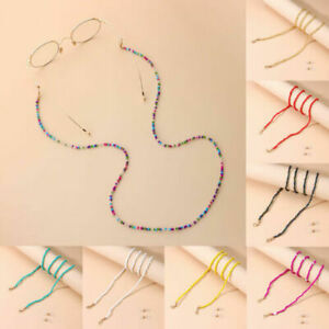 Slip Adjustable Sunglasses Lanyards Glasses Chain Colorful Beads Necklace Strap