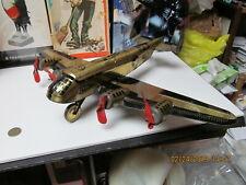 MARX TWA ARMY MILITARY WIND UP BOMBER GOLDEN AEROPLANE AIRPLANE 30s-40s 18