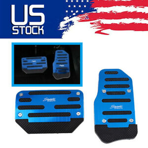 BLUE Non-Slip Automatic Gas Brake Foot Pedal Pad Cover Car Accessories Parts