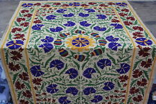 Vintage Suzani Embroidered  Runner Decor Indian Cotton Table Cover Runners NCJD6
