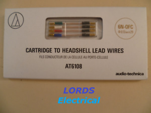 AUDIO TECHNICA AT6108 CARTRIDGE TO HEADSHELL HIGH PURITY LEAD WIRES 6N-OCF