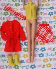 BARBIE'® DOLL's 1970 ANTI FREEZERS COSTUME #1464 VINTAGE JAPAN MOD EYELASH ERA!