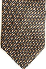"Roberto Villini Men's Silk Tie 58.5"" X 4"" Black/Browns/White Geometric"